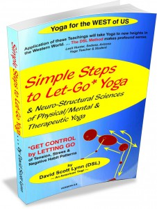 Front cover for Simple Steps to Let-Go Yoga e-book: medical yoga, postural yoga therapy