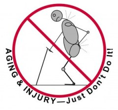 Aging & Injury: Just Don't Do It! - basics of hatha yoga poses and let-go yoga therapy