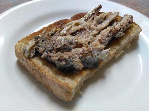 Sardine and toast