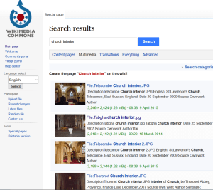 Wikicommons search