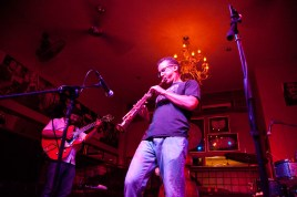 photo of David Sills on stage playing at Bali Mannekenpis