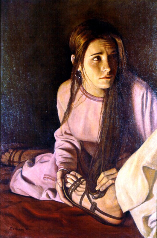 At Her Master's Feet By Del Parson