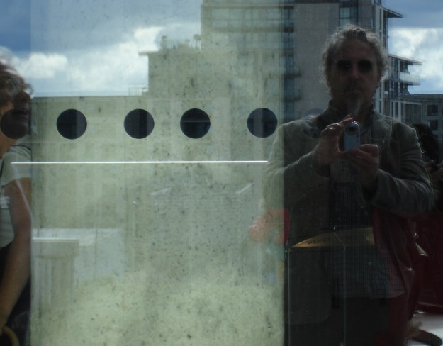 Self portrait of reflection in the windows of Birmingham's new library