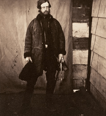 Salt print image of Captain Lord Balgonie by Roger Fenton