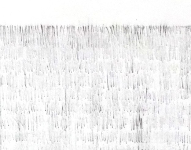Detail of edge of erased drawing by David Smith
