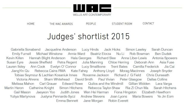Wells Art Contemporary 2015 shortlist