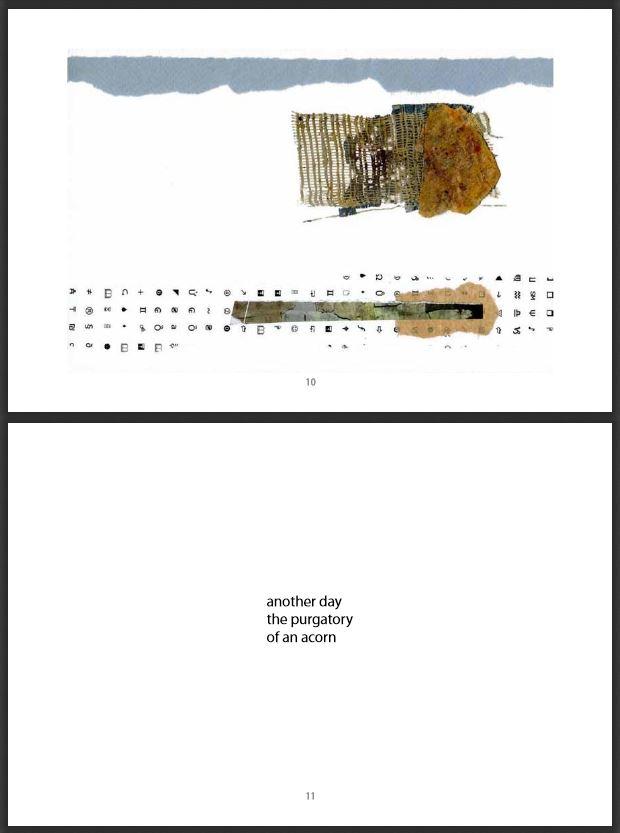 Spread from Bones - journal of contemporary haiku