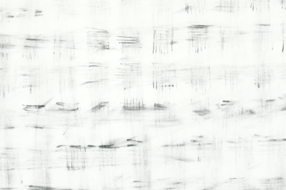 Double Erasure: Winter Field. Multiply erased graphite on Canaletto paper by David Smith