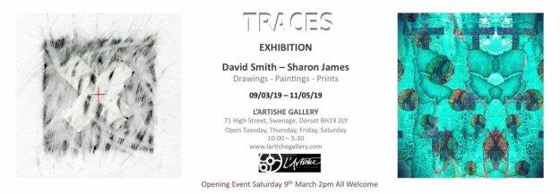 Flier for Traces art exhibition