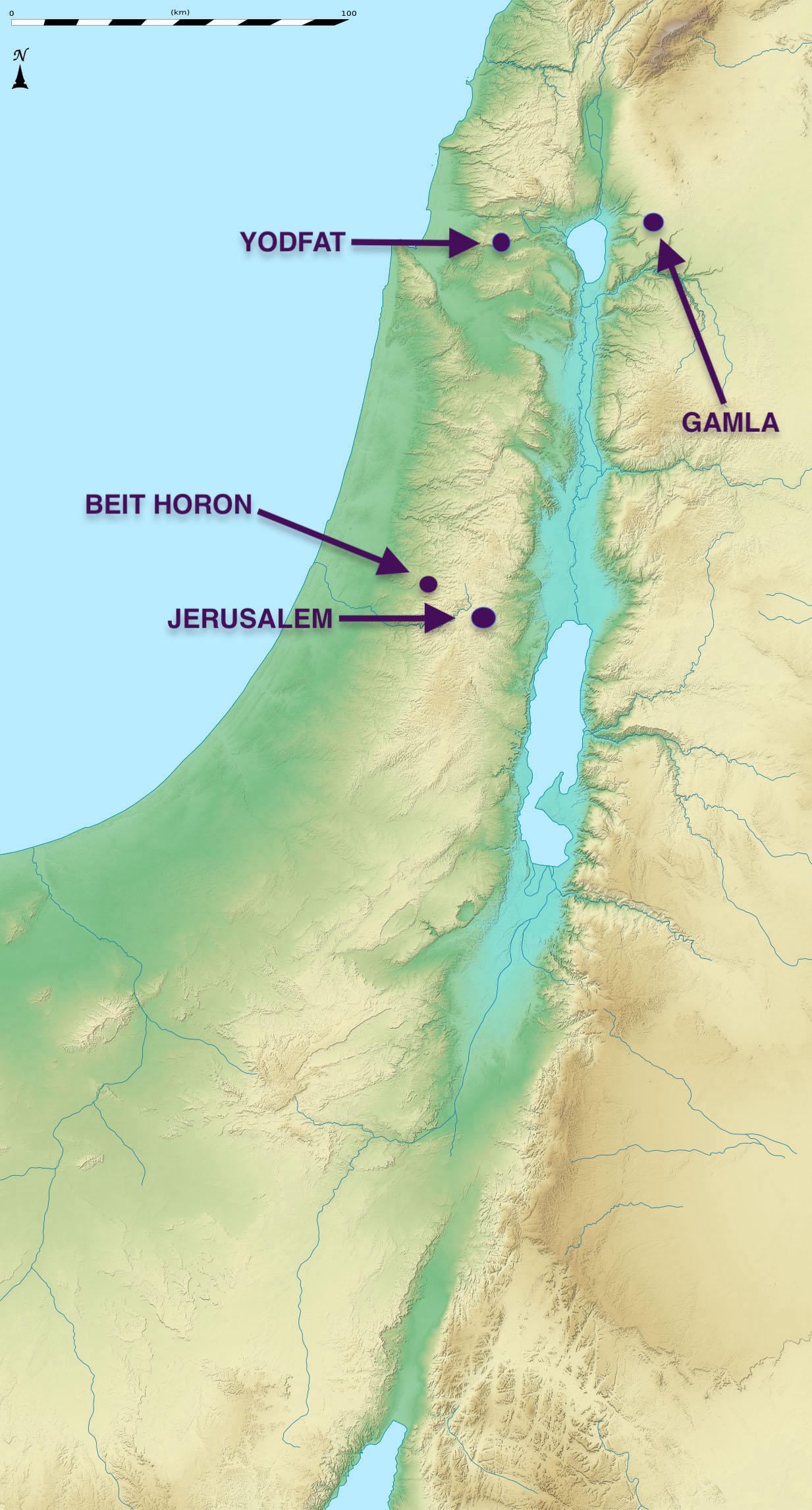 Map - Great Battles of Jewish History 3, David Solomon