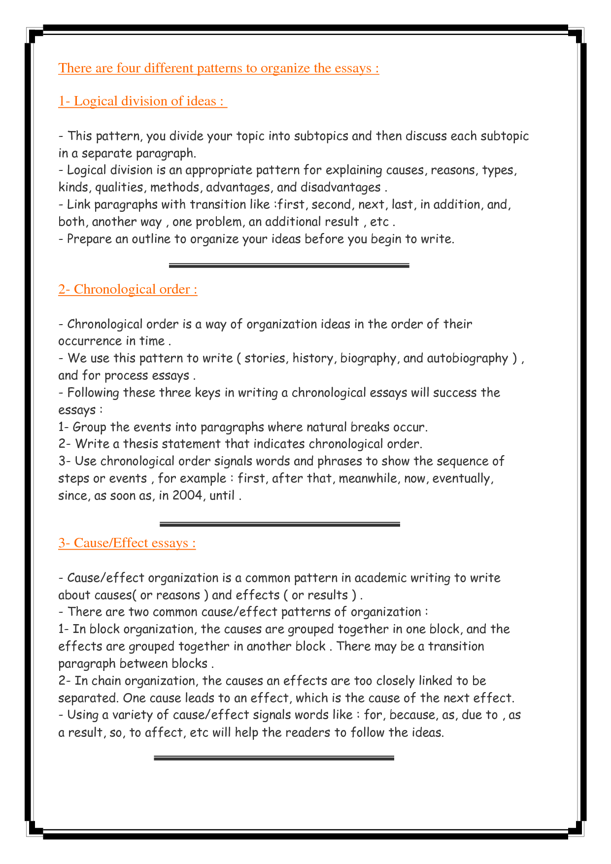 Good Ideas For Cause And Effect Essay