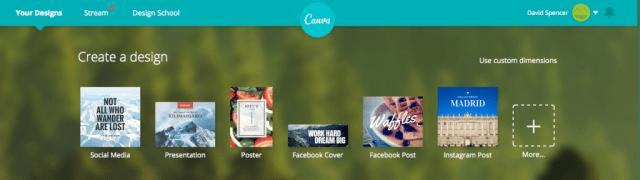 canva.com - Design Selection