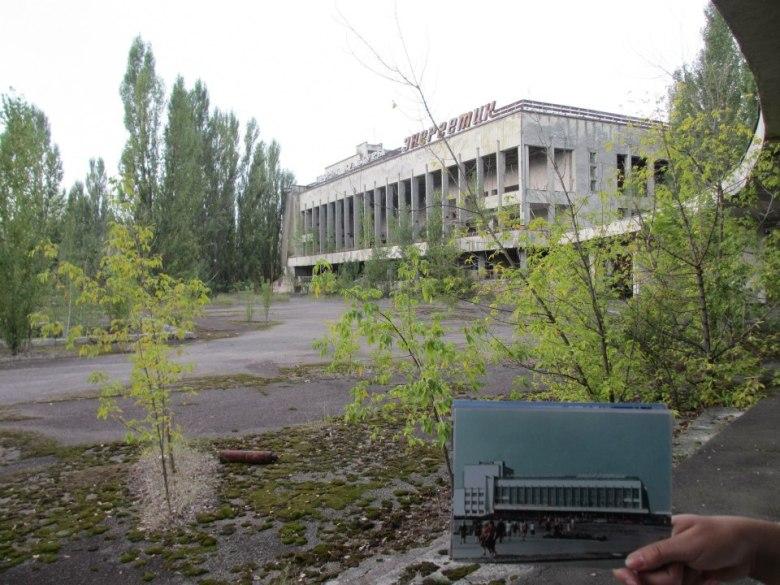 Kulturhuset i staden. Här dansade Sovjetmedborgare i den perfekta staden. Bokstavligt så var detta framtiden. genomsnittsåldern på 26 innebar ca. 1000 nya barn per år.