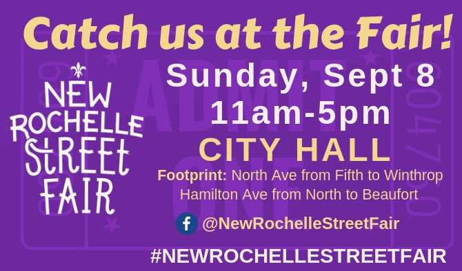 Join Me this Sunday 9/8 for the New Rochelle Street Fair!