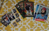 Baseball cards of all sizes