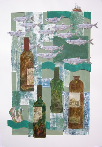 dream bottles. At the Found Gallery, Dunbar
