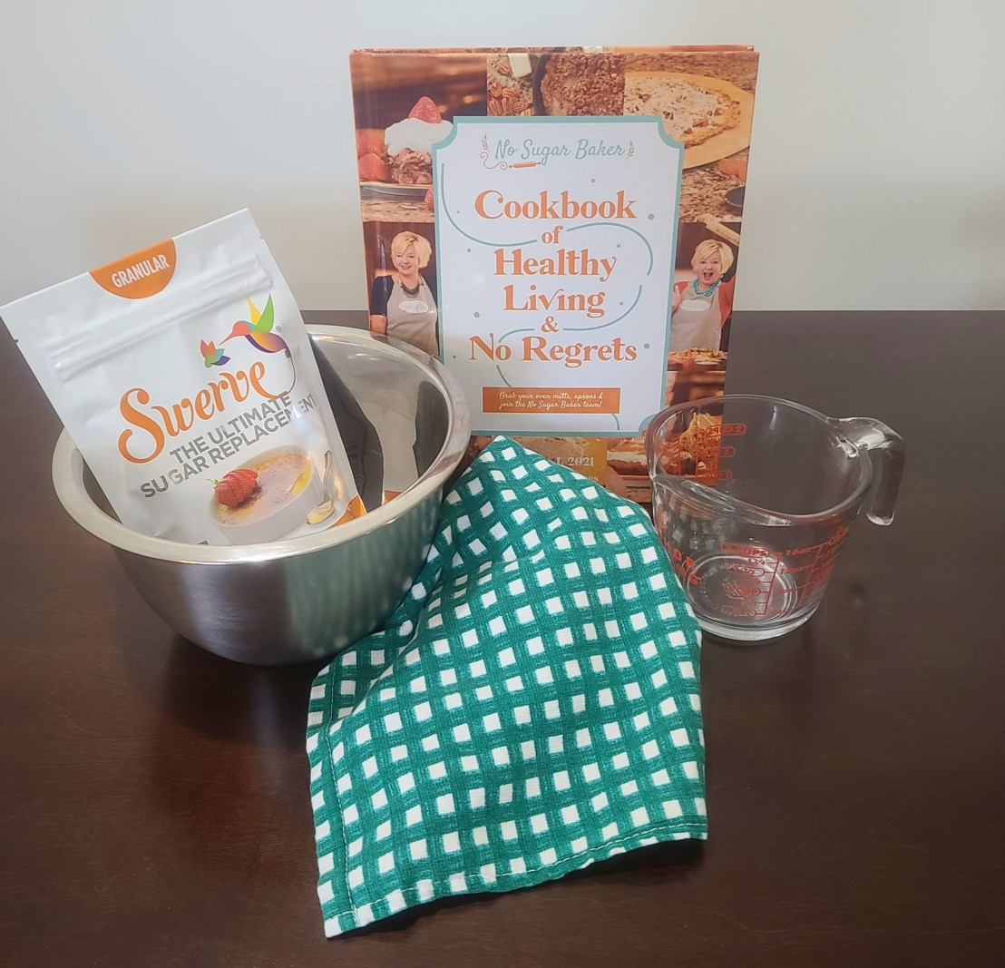 cookbook and mixing bowl