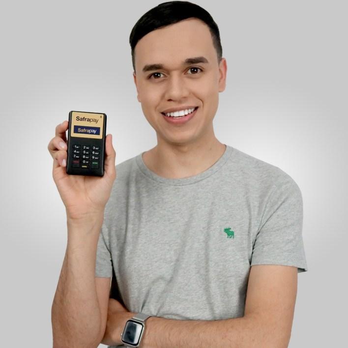 Máquina de cartão Safrapay Bluetooth