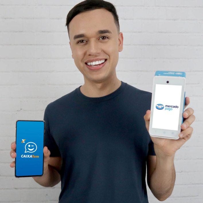 cartão de dábito virtual caixa tem na maquininha point smart - auxilio emergencial