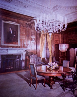 White House - State Dining Room Before Restoration