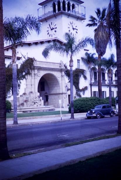 Santa Barbara - Main Entrance - County Courthouse