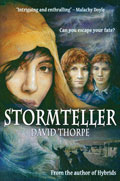Front cover of Stormteller novel by David Thorpe
