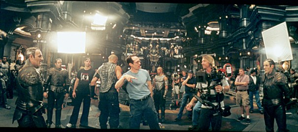 Directing a fight sequence.