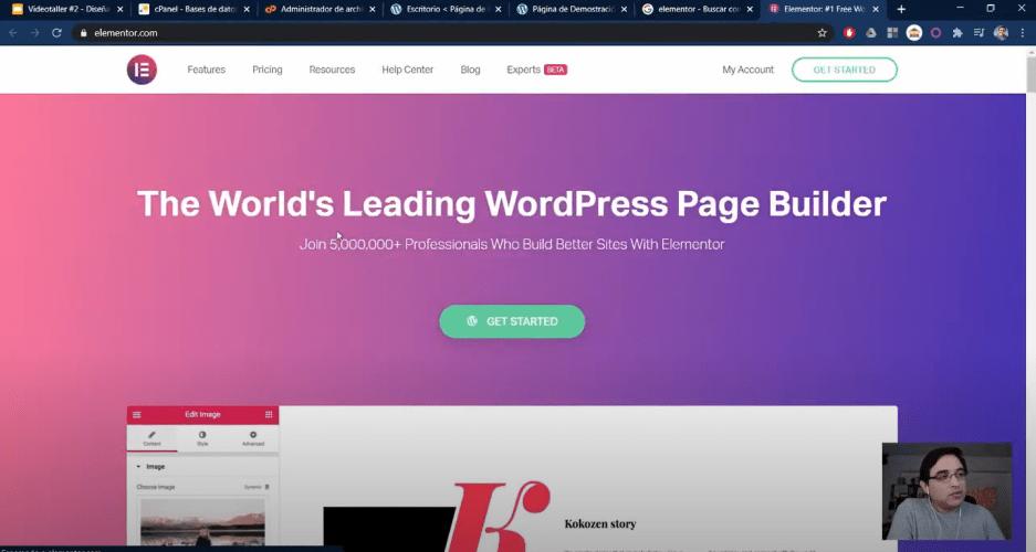 Videotaller Elementor Wordpress