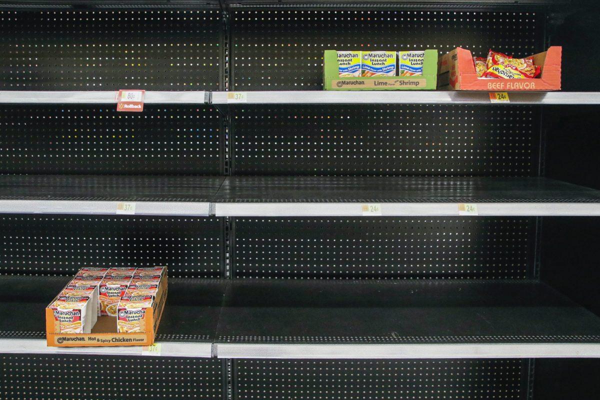 The shortages were unevitable