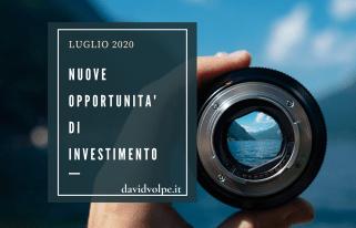 NUOVE OPPORTUNITA' INVESTIMENTO LUGLIO 2020