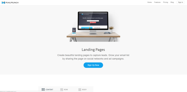 MailMunch Landing Pages