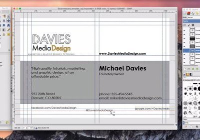 How to Design a Business Card in GIMP