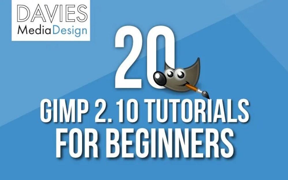 20 GIMP 2 10 Tutorials for Beginners   Davies Media Design