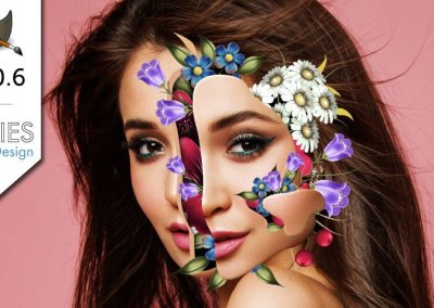 GIMP 2.10 Tutorial: Flower Portrait Photo Manipulation (Marcelo Monreal)