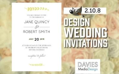 How to Design Wedding Invitations in GIMP 2.10