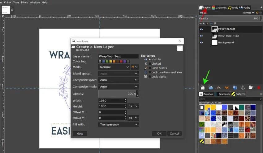 Zeichnen von Text in einem Circle GIMP Tutorial