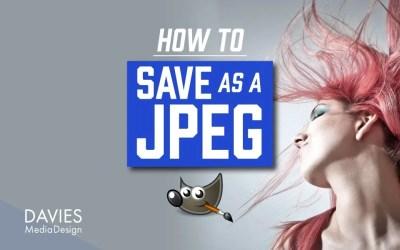 GIMP में JPEG के रूप में कैसे सेव करें