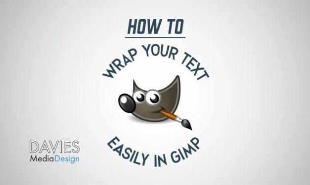Avvolgi testo attorno a un cerchio in GIMP 2.10