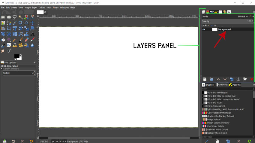 Layer Panel a Background Background Layer