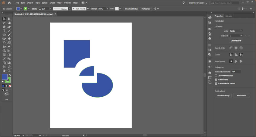 Estratto di Adobe Illustrator Shape Builder