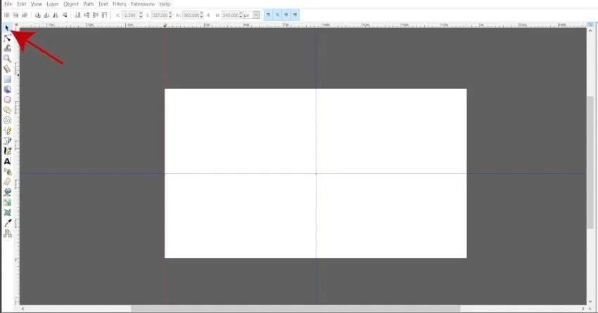 Törölje a felesleges útmutatókat a Központ útmutatók létrehozásához Inkscape