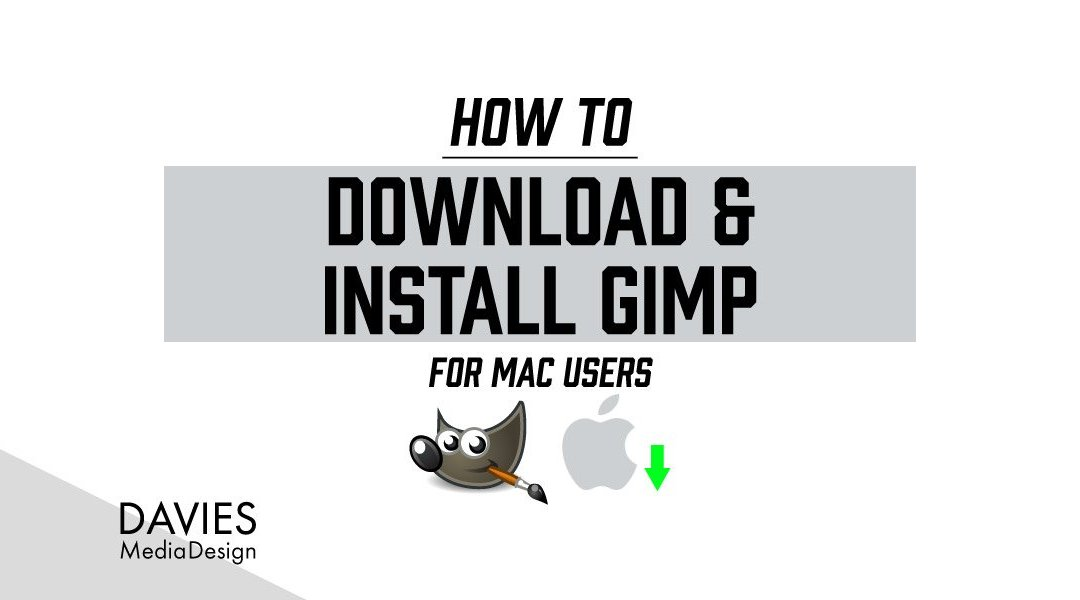 Comment télécharger et installer GIMP 2.10 for MAC