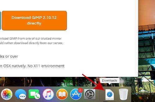 Preuzmi opcije za preuzimanje GIMP MAC-a