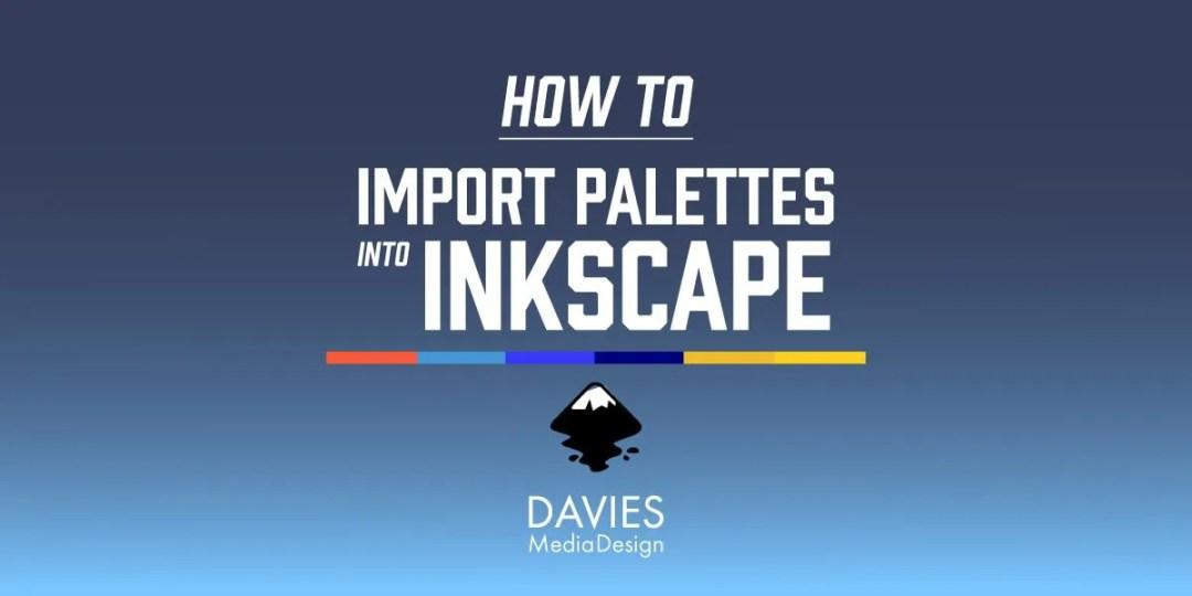 Jak importovat palety do Inkscape