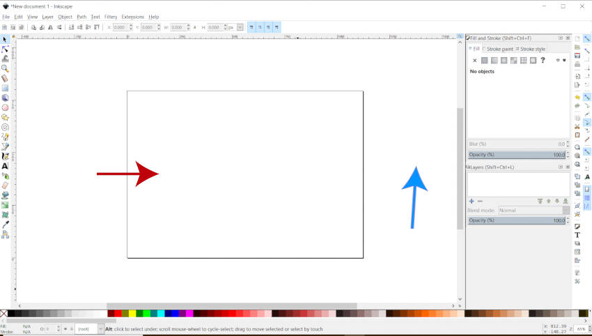 Inkscape Canvas e sfondo