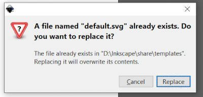 Replace Default SVG Template File in Inkscape Tutorial