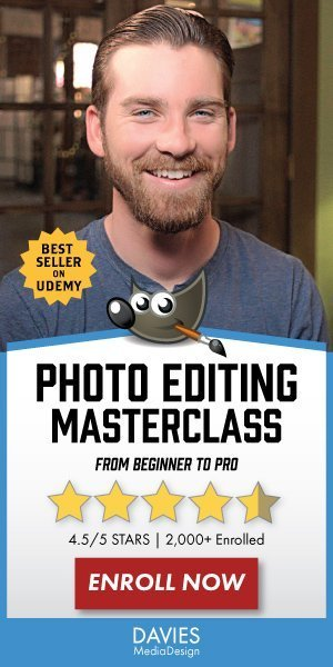 GIMP program za urejanje fotografij Masterclass Best-Seller Course na Udemy