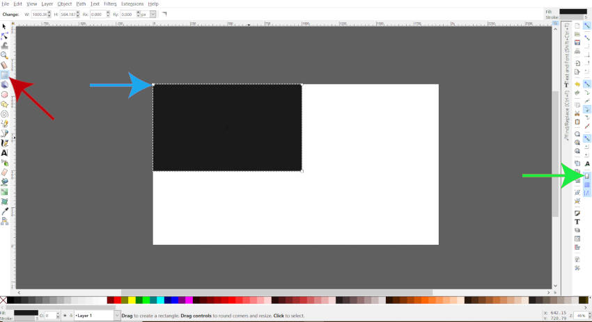 Notaðu Rectangle Tólið í Inkscape