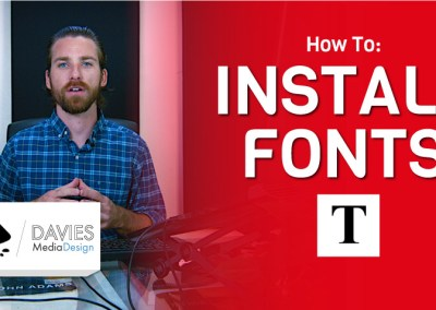 Как да инсталирате шрифтове в Inkscape