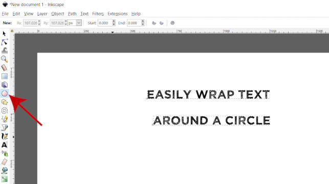Inkscape Ellipse Tool Wrap Text A Circle Tutorial